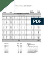 Perhitungan Cycle Time Drilling