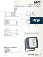 Sylvania MKR MultiKat 'R Series' Rectangular Beam Floodlight Spec Sheet 3-88