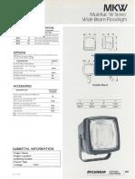 Sylvania MKW MultiKat 'W Series' Wide Beam Floodlight Spec Sheet 3-88
