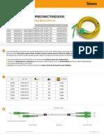 Fibra Optica Latiguillos Dobles Preconectorizados