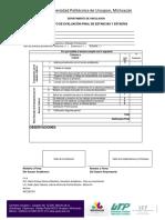 Fupvin-est-12 Formato de Evaluación Final