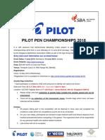 Pilot Pen Championship 2018 Prospectus