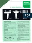 Sylvania Twist-Pak Post Top Decorator Models Spec Sheet