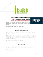 Lean Start Up Report