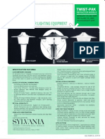 Sylvania Twist-Pak Post Top Refractor Models Spec Sheet