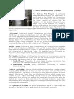 Culinary Arts Program Synopsis