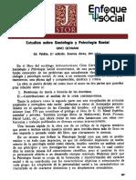 Estudios Sobre Psicologia y Sociologia - Gino Germani