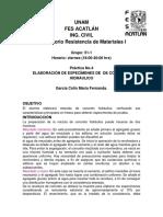 ELABORACIÓN DE ESPECÍMENES DE  DE CONCRETO HIDRÁULICO