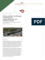 Antes Solução, Via Mangue é Sinônimo de Engarrafamento Em Horários de Pico - Jornal Do Commercio