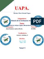 Tarea 1 de Historia de La Civilizacion Antigua. Amauri.