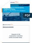 Introduction to Governance, Politics & Policy, Week 3
