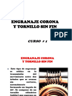Engranaje Corona - Sin Fin