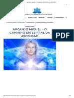 Arcanjo Miguel - o Caminho Em Espiral Da Ascensão