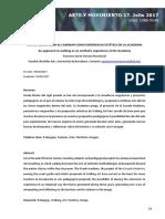 UNA APROXIMACIÓN AL CAMINAR COMO EXPERIENCIA ESTÉTICA EN LA ACADEMIA - Francisco Javier Serrano Navamuel
