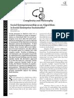 Social Entrepreneurship as an Algorithm