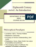 The Eighteenth Century Novel