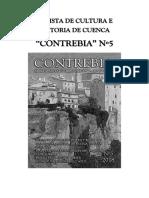 """Cartel del número cinco de la revista """"Contrebia"""" de Cuenca"""