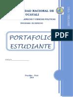 Caratula Del Portafolio Estudiante