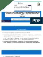 Correlación Entre El Nivel Sérico de IL-17A y La Puntuación SALT en Pacientes Con Alopecia Areata Antes y Después de La Terapia NB-UVB