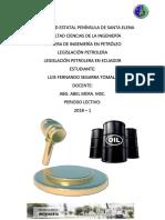 Legislación Petrolera Del Ecuador