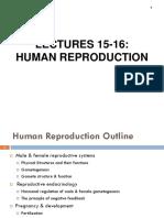 CAPE Human Reproduction 2018 Syllabus