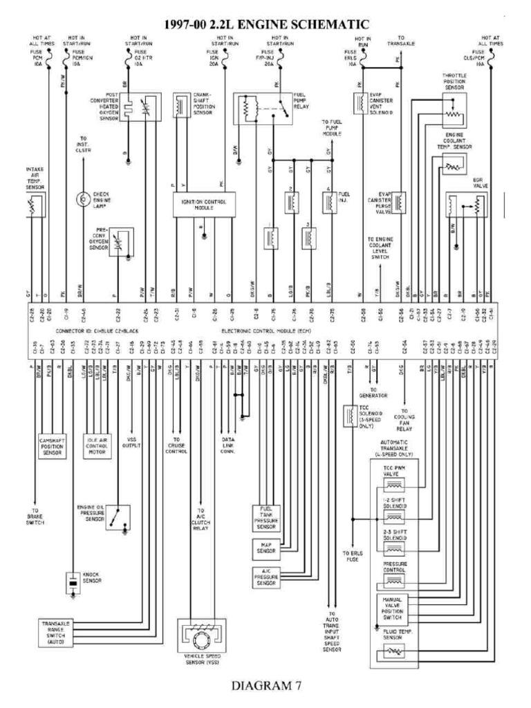 2 2l Engine Schematic Diagram Of 1997 2000 Chevrolet Cavalier Pdf