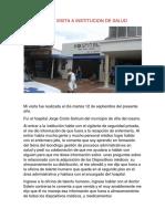 Evidencia de Visita a Institucion de Salud