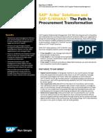 SAP Ariba Solutions and SAP S4HANA the Path to Procurement Transformation