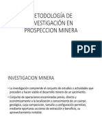 Metodología de Investigación en Prospeccion Minera
