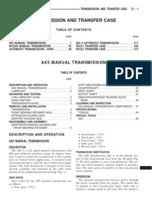 AX5 trans | Manual Transmission | Transmission (Mechanics)