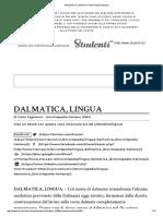 DALMATICA, LINGUA in _Enciclopedia Italiana