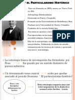Franz Boas y El Particularismo Histórico