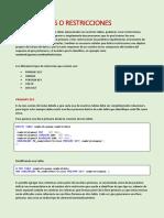 Guia de Cosntraints SQL