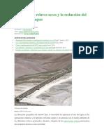Cono Profundo (Depósitos de Relaves Secos y La Reducción Del Consumo de Agua)