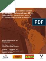 Cultura Política de La Democracia en El Salvador y en Las Américas, 2014 Gobernabilidad Democrática a Través de 10 Años Del Barómetro de Las Américas