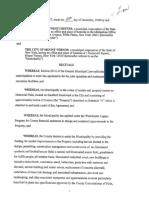 Memorial Field Inter Municipal Agreement
