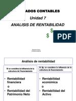 Unidad 7 - Análisis de Rentabilidad