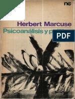 Herbert Marcuse Psicoan Lisis y Pol Tica