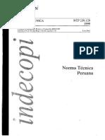 NTP 339.129 Limite Plástico