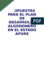 Plan de Desarrollo Algodonero Socialista.......