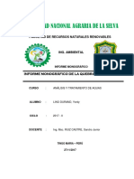 Informe de Quebrada Pizarro