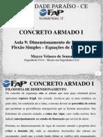 201791_211157_CA1+-+aula+9+-+Flexao+Simples+–+Equacoes+de+Equilibrio