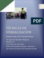 lenguaje oral en la función policial