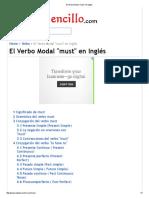 El Verbo Modal _must_ en Inglés