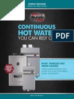 RUUD Tankless Water Heater