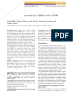 A Play Based Intervention for Children With ADHD a Pilot Study