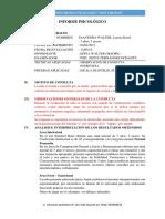 Informe Psicológico Lorena Karol 4 Años