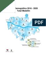 Perfil Demográfico 2016 - 2020 Total Medellin