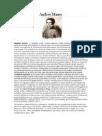 Biografia Andrés Manso