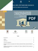 Catálogo de Juicios y Procedimientos en Materia Civil, Familiar y Mercantil OAXACA